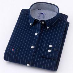 Striped Shirt Dress, Striped Long Sleeve Shirt, Long Sleeve Shirts, Dress Shirts, Shirts & Tops, Men Shirts, Plaid Shirts, Cotton Shirts, Smart Casual Shirts