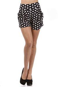 Polka Dot Harem Shorts