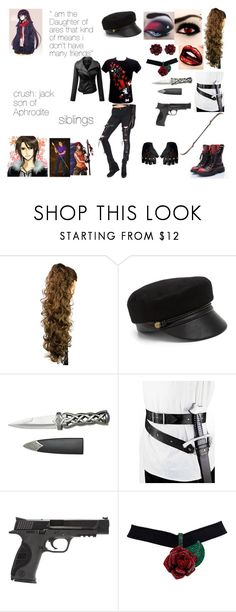"""""""Amelia smith Daughter of ares"""" by bluesakurarose on Polyvore featuring Tripp, T.U.K., Eugenia Kim, Smith & Wesson, NRegnier and Paul Frank"""