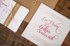 Wedding Stationery by Galina Dixon, via Behance