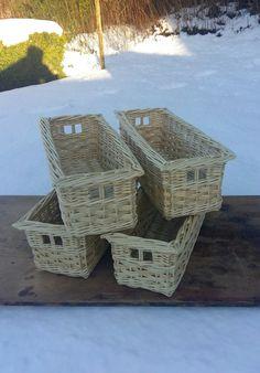 Made to measure storage baskets made by John Cowan Baskets
