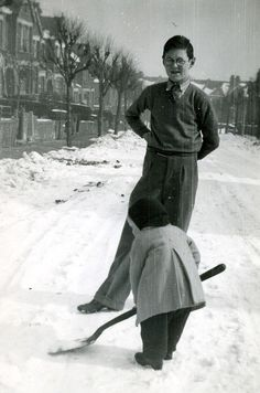Cranbourne Road in Muswell Hill, winter 1947