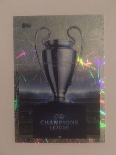 Topps-Match-Attax-2015-16-500-UEFA-Champions-League-Trophy-Shiny-Trading-Card