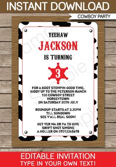 free western invitation templates you can make these lasso