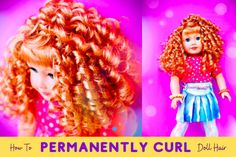 How To Permanently Curl Doll Hair | Pixie Faire Ag Doll Hairstyles, American Girl Hairstyles, Curled Hairstyles, American Girl Crafts, American Girl Clothes, Ag Dolls, Girl Dolls, Pixie, Ag Hair Products