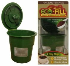 Eco-Fill Reusable Refillable k-cup Coffee Filter for Keurig Brewers : Amazon.com : Kitchen & Dining