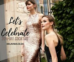 Celebrate the season of festivities!  20% OFF, valid for July only*  We have the styles to get you dressed and ready for your events, matric dance, cocktail parties, formal occasions, weddings and the list goes on.  Available to fit at Fourways | 011 431 4304  #cocktail #formal #wedding #promo