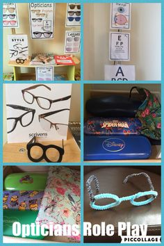 Optician role play area at home - Parenting Eyfs Activities, Activities For Kids, Role Play Areas Eyfs, Kids Role Play, Pretend Play, Kids Indoor Playground, Playground Ideas, People Who Help Us, Dramatic Play Area