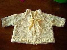 Ravelry: Buttercup Baby Cardigan pattern by Allison Elliott