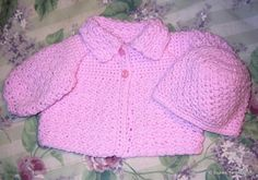 15 Free Baby Sweater Crochet Patterns: Textured Crochet Baby Sweater Free Pattern