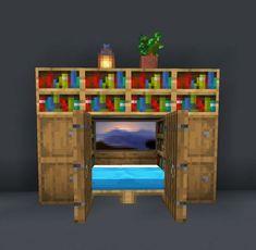 Minecraft Bedding, Minecraft Room Decor, Minecraft House Plans, Easy Minecraft Houses, Minecraft Decorations, Minecraft Blueprints, Minecraft Furniture, Minecraft Stuff