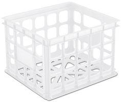 Sterilite Storage Crate (Clear) #srcvinyl #vinylrecordstorage www.srcvinyl.com