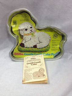 Wilton Gentle Lamb Cake Pan with directions  #Wilton