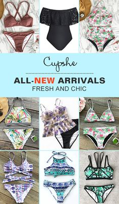 Give this summer even hotter, baby! Time to treat yourself more new arrivals. We have prepared hottest items for you. Improved design and great quality. Come to Cupshe.com and check them out!