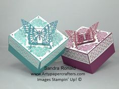 GORGEOUS BUTTERFLY Gift Box using Floral Phrases - SandraR Stampin' Up! Demonstrator Independent - YouTube