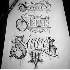 Gothic Lettering, Graffiti Lettering Fonts, Script Lettering, Lettering Design, Chicano Tattoos Lettering, Tattoo Lettering Styles, Graffiti Tattoo, 1 Tattoo, Tattoo Script