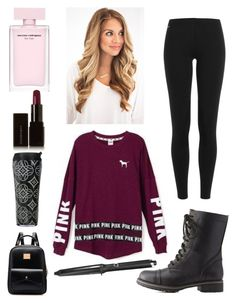 """""""School Tomorrow RTD & Comment!!!"""" by haileywilkins1 ❤ liked on Polyvore featuring Polo Ralph Lauren, Charlotte Russe, Victoria's Secret, GHD, Illamasqua and Vera Bradley"""