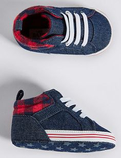 Shop this Baby Denim Pram Shoes Months) at Marks & Spencer. Browse more styles at Marks & Spencer US Sock Shoes, Shoe Boots, Baby Shoes, Small Wardrobe, Suit Shop, Prams, Lingerie Collection, Girls Jeans, Girls Shopping