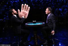 Guest star: Jake Gyllenhaal was a guest on The Tonight Show Starring Jimmy Fallon on Tuesday