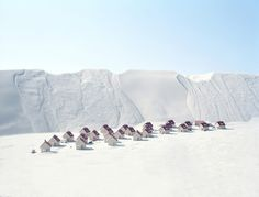 "How could anybody live here ? (Thomas Wrede's last series ""Real landscapes"" are manipulations of landscapes)"