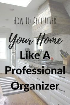 When it comes to decluttering your home, it can seem rather overwhelming! But professional organizer, The Organized Mama, shares her tips to make it less stressful to declutter your stuff! #declutter #organize #declutteryourhome