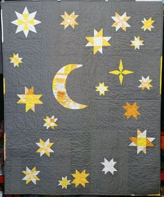 This would be a cute baby quilt!  With those wonky stars I keep wanting to try!!