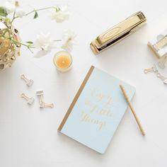 Desk Mockup by TwigyPosts on Creative Market with journal, gold stapler, candles and flowers. Studio App, Luxury Wedding Decor, Design Typography, Photoshop, Wedding Mood Board, Branding, Illustrations, Art Design, Blog Design