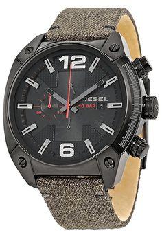 ac3655d99faa Montre Diesel Overflow Homme DZ4373 - Quartz - Analogique - Cadran en Acier  inoxydable Noir -