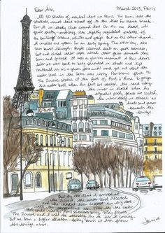Best Travel Journal France Urban Sketchers Ideas Best Travel Journal Frankreich Urban Sketchers Ideen This image has get Voyage Sketchbook, Travel Sketchbook, Arte Sketchbook, Kunstjournal Inspiration, Art Journal Inspiration, Urban Sketchers, Mail Art, Illustration Parisienne, Paris Kunst