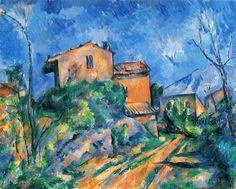 Paul Cézanne - Maison Maria with a View of Château Noir - 1895 painting