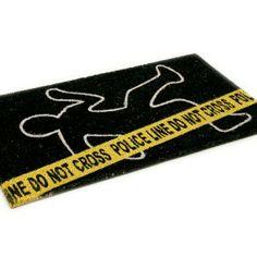 """Felpudo """"Police Line"""" / Police Line Doormat · Tienda de Regalos originales UniversOriginal"""