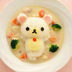 food, kawaii, and rilakkuma imageの画像 Kawaii Bento, Japanese Food Art, Japanese Sweets, Japanese Lunch, Cute Bento Boxes, Kawaii Cooking, Bento Recipes, Cute Desserts, Kawaii Shop