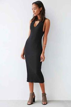 Love this! Silence + Noise Reba Cutout Mock-Neck Bodycon Dress - Urban Outfitters