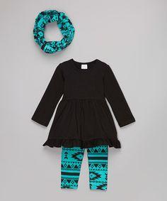 Black Top Set - Infant, Toddler & Girls
