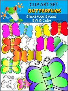 Free clip art: FREE butterfly clip art.