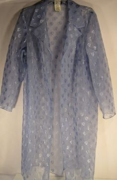 Onyx Nite Women Plus Size Sheer Top Size 18W Blue Made In USA. #OnyxNite #SheerLongTop #Casual