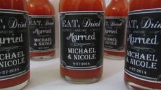 Wedding Hot Sauce Favors  Eat Drink and be by InNonnasKitchen