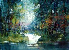 Amazing watercolor landscapes