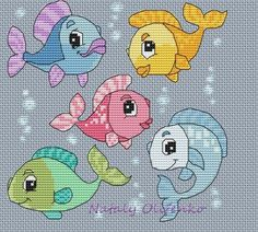 Cross Stitch Sea, Butterfly Cross Stitch, Cross Stitch For Kids, Simple Cross Stitch, Cross Stitch Animals, Counted Cross Stitch Patterns, Cross Stitch Charts, Cross Stitch Designs, C2c