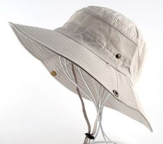 UV Protection Flap Hat Breathable mesh bone Beach hat men. Men s Bob Summer  Bucket Hats Outdoor Fishing Wide Brim ... fd171e3d3a62
