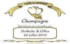 etiquette champagne mariage personnalises blanche - Tiquette Personnalise Champagne Mariage