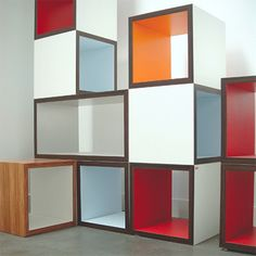 DIY build modular cubes to design my own cohesive bookshelving and entertainment stand!