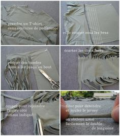 Make t-shirt yarn. #garn #recycle #upcycle #skjorte #tskjorte #yarn #DIY