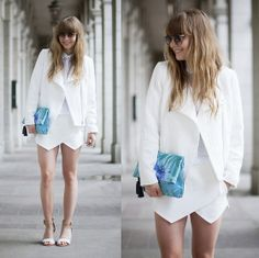 white outfit in clean & chic style