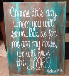 Bible Verse Canvas 16x20 Joshua 2415 by ejocanvas on Etsy, $40.00