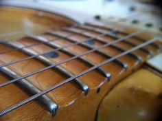 my guitar, scalloped neck. Guitar Neck, Guitar Parts, Guitar Building, Death Metal, Rock Bands, Studio, Wood, Music, Guitars