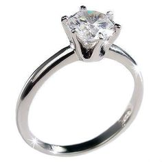 Marissa: Classic 1.25ct Ice on Fire CZ Solitaire Engagement Band Ring