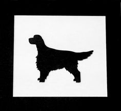 "Irish Setter Gordon Setter Dog Framed 3-D Wood Hand Painted Silhouette Dog Art, USA MADE, 6"" x 5.5"""