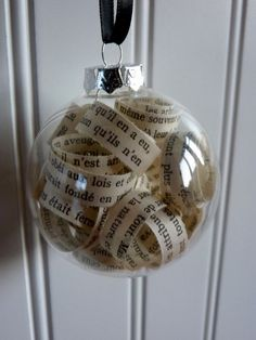Vintage French Christmas Ornament - Accent Balls - Shabby Chic. $6.00, via Etsy.