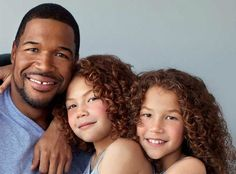 MICHAEL STRAHAN And two Daughters  ( Co-host the Kelly & Michael Show - ABC network.)